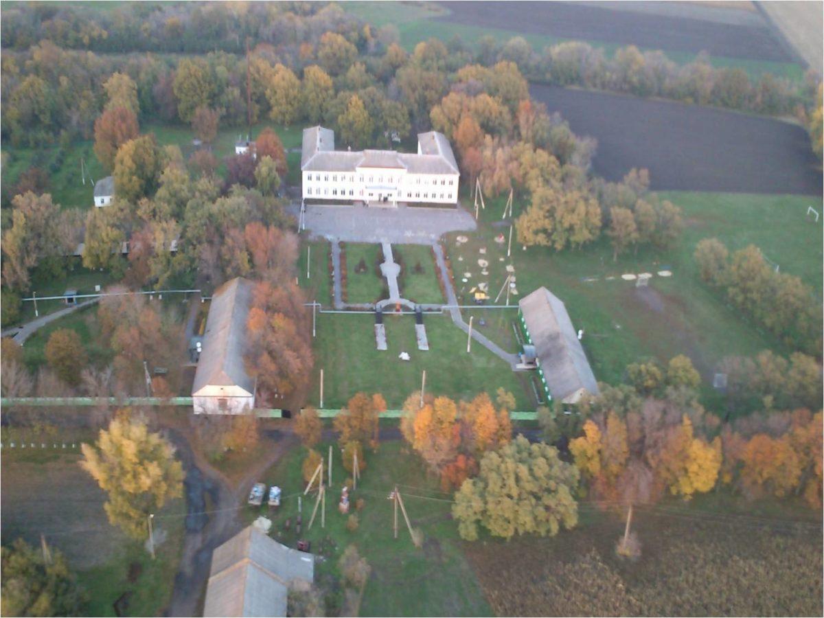 Територія Андріївської школи-інтернату з висоти пташиного польоту